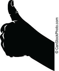 approbation, signe main
