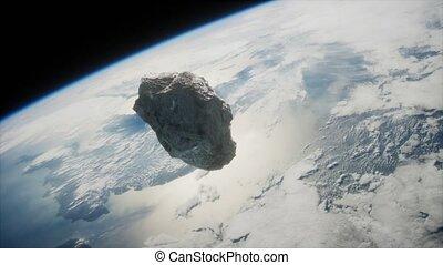 approchant, planète, astéroïde, dangereux, la terre