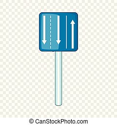 Appropriate traffic lanes icon, cartoon style - Appropriate ...
