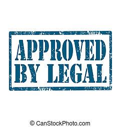 approuvé, par, legal-stamp