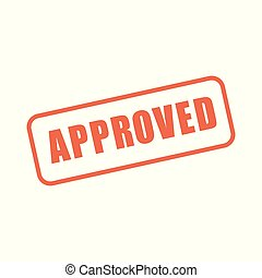 Approval and Signature Icon with approved imagery - to show someone who's given the go ahead
