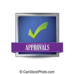 approval button illustration design