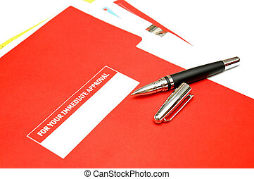 Approval document - Pen over approval document