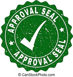 Approval Seal Grunge Stamp with Tick