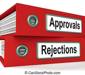 Approvals Rejections Files Showing Accept Or Decline Reports