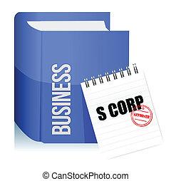 approvato, francobollo, su, uno, s, corporazione, documento...