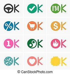 approvazione, icone
