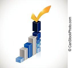 approve business graph illustration design