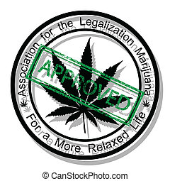 Approve marijuana - Illustration approved the legalization ...