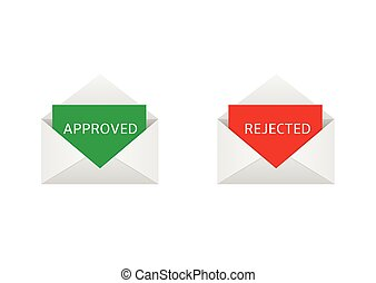 Approved and rejected letters