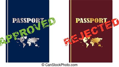 Approved and rejected passport