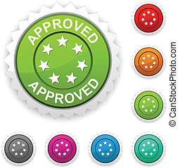 Approved award button.