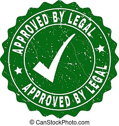 Approved by Legal Grunge Stamp with Tick