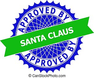 APPROVED BY SANTA CLAUS Bicolor Clean Rosette Template for Stamps