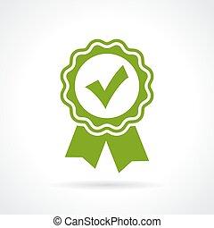 Approved certificate icon - Approved certificate tick icon