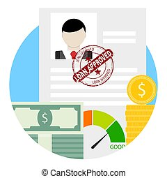 Approved credit or loan