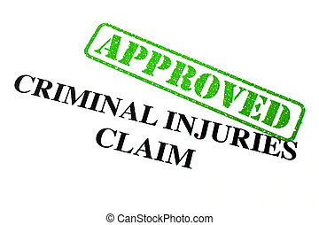 Approved Criminal Injuries Claim - Close-up of an 'Approved'...