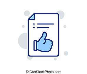 Approved document line icon. Accepted or confirmed sign. Vector