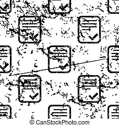 Approved document pattern, grunge, monochrome