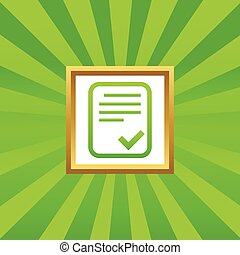 Approved document picture icon