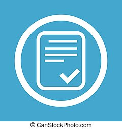 Approved document sign icon