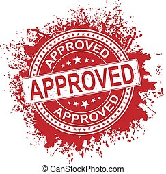 Approved grunge rubber stamp on white, vector illustration
