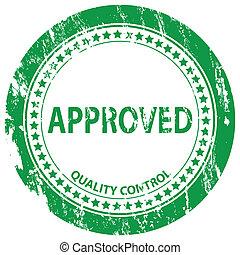 approved grunge stamp
