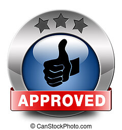 approved icon - approved thumbs up passed test and access...