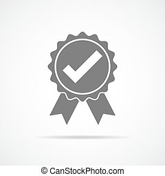 Approved icon. Vector illustration.