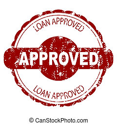 Approved loan rubber stamp