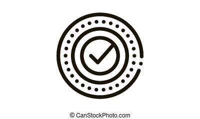 Approved Mark Print Stamp Seal Element animated black icon on white background