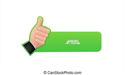 Approved medal. Round stamp for approved and tested product, software and services. stock illustration