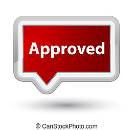 Approved prime red banner button