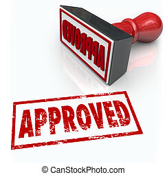 Approved Rubber Stamp Accepted Approval Result - Approved...