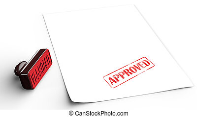 Approved Rubber Stamp