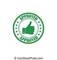 Approved rubber stamp isolated on white background. Vector illustration