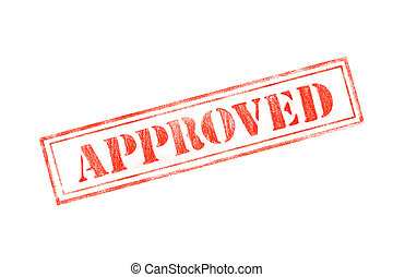 'APPROVED' rubber stamp over a white background