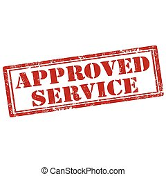 Approved Service-stamp