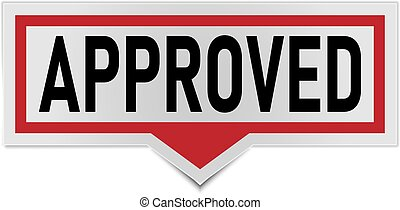 approved sign. approved rounded red sticker. approved speech bubble