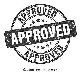 approved stamp. approved round grunge sign. approved