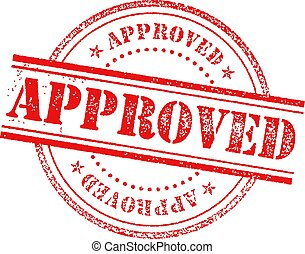 Approved Stamp Icon Sign
