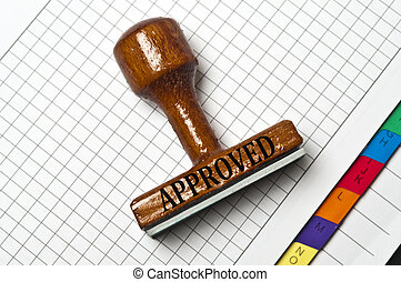 Approved stamp on agenda page