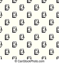 Approved stamp pattern seamless