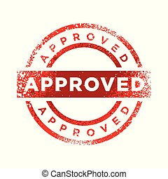 Approved Stamp Red Color Symbol Design