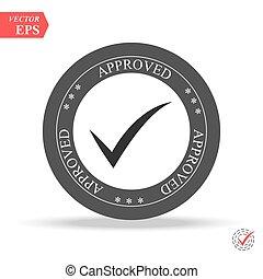 approved. stamp. sticker. seal. round grunge vintage black approved sign