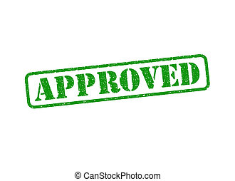Approved Stamp - An Approved Stamp over a white background.