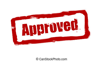 Approved stampo - Approved stamp red with fuzzy space over...