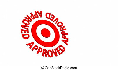 Approved Target - Target and dart with circular text. Part...
