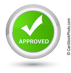 Approved (validate icon) prime soft green round button
