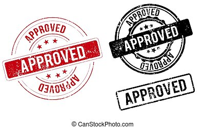 approved vintage round isolated stamp